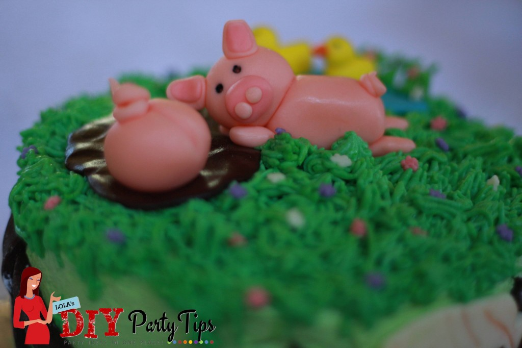 Farm Birthday Cake Toppers - Ducks and Pigs