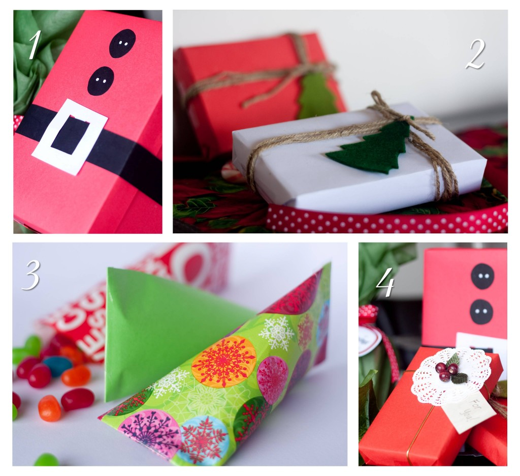 Four simple diy gift wrapping ideas lola 39 s diy party tips for Unique ideas for christmas gifts