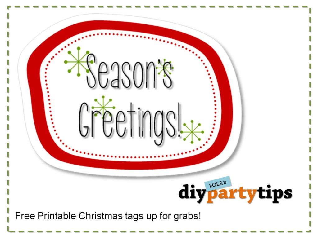 Printable Christmas tags - DIY Party Tips